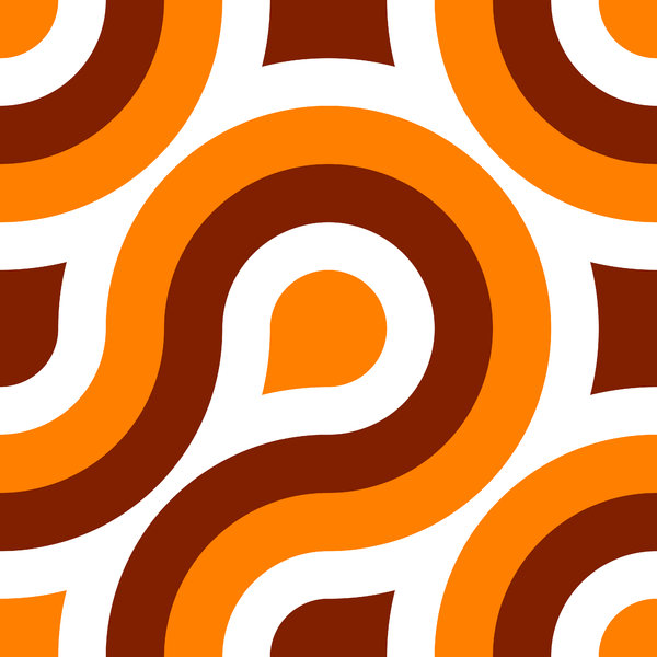 Retro Pattern 1 A seamless tile with a retro pattern in a 1970s 600x600