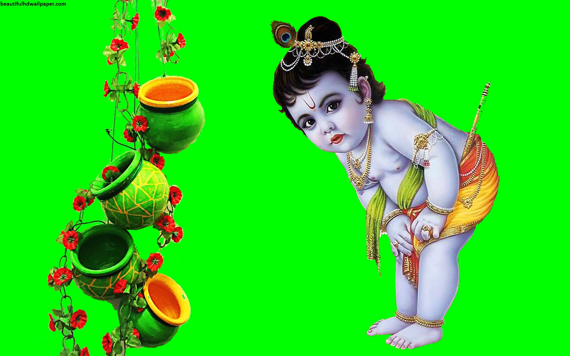 Download Lord Krishna HD wallpaper in laptop and desktop