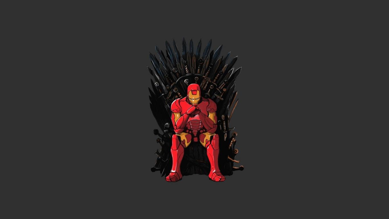 1366x768 Iron Man Game of Thrones Mashup desktop PC and Mac wallpaper 1366x768