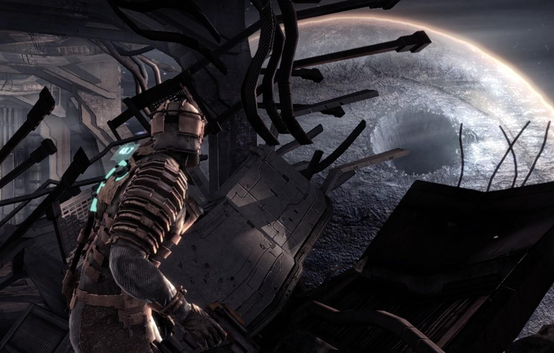 Wallpaper crater Dead Space Isaac Clarke engineer Isaac Clarke 1332x850