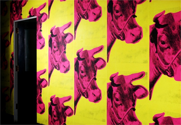 Cow Wallpaper Andy Warhol Cow wallpaper by andy warhol 610x420
