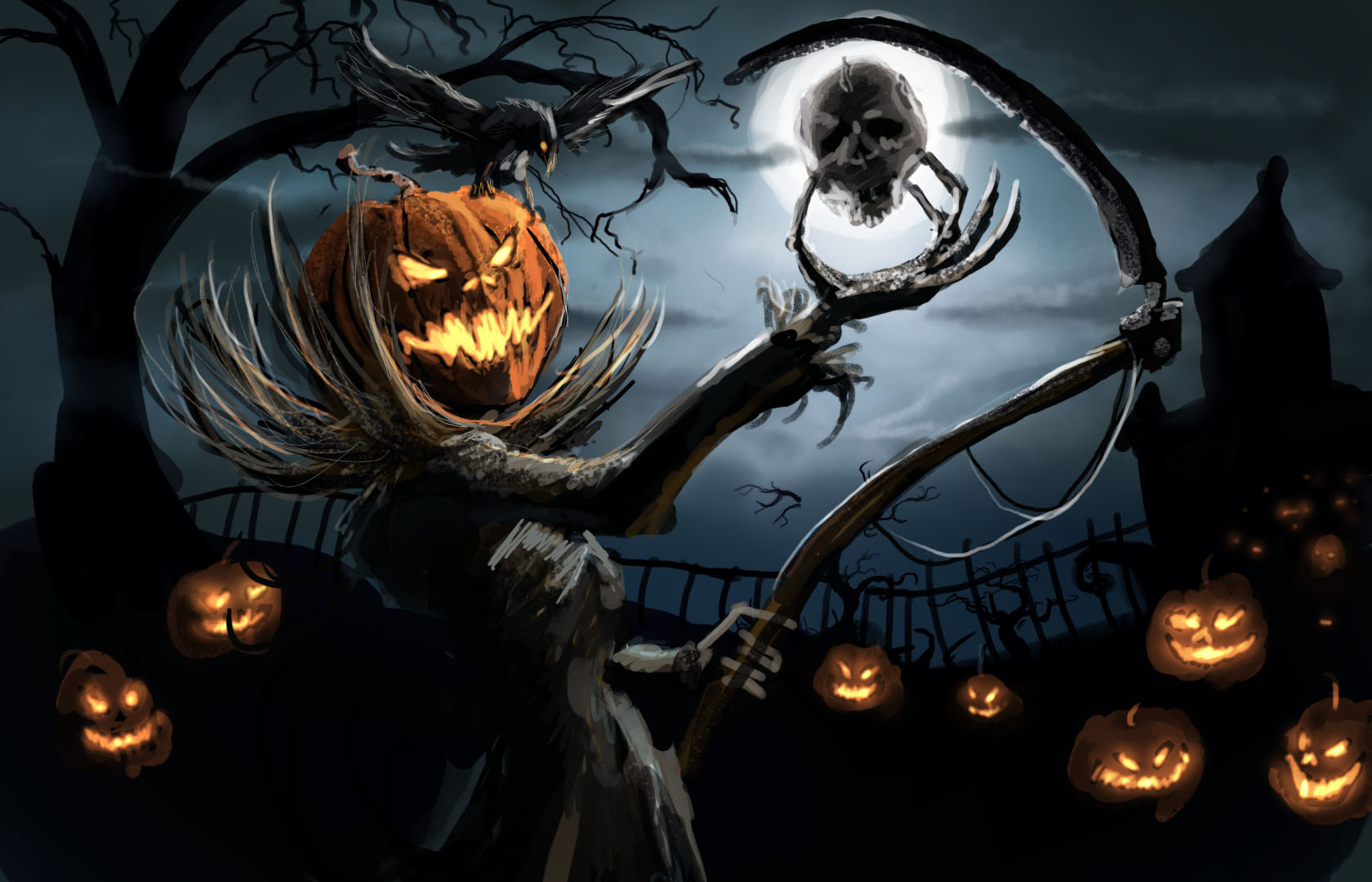 Halloween Computer Wallpaper Backgrounds Mobile Compatible 1680x1080