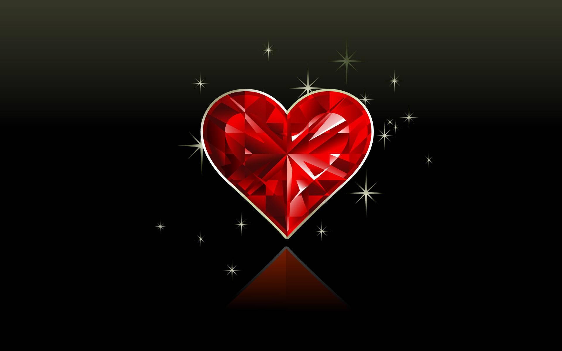 Diamond Love Red Heart Image Wallpaper 13958 Wallpaper 1920x1200