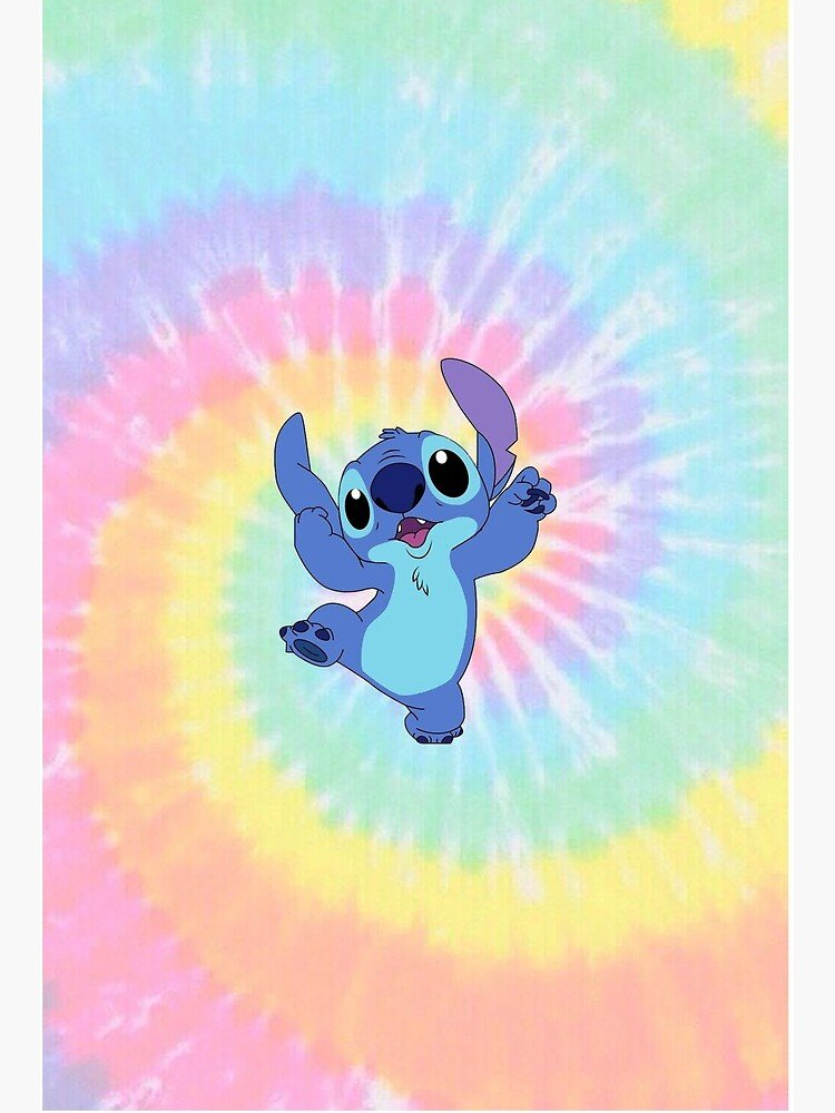 Silly Stitch on colorful background Art Board Print by SDKAY 750x1000