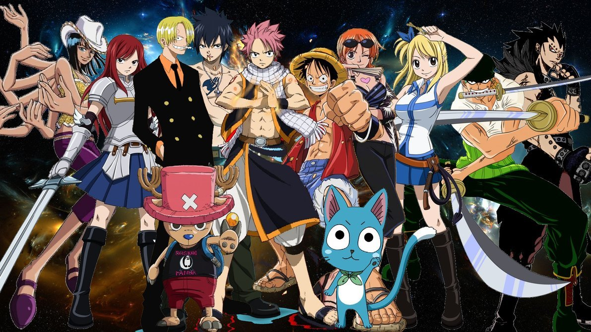 Fairy Tail X One Piece Crossover by Negator7 1191x670