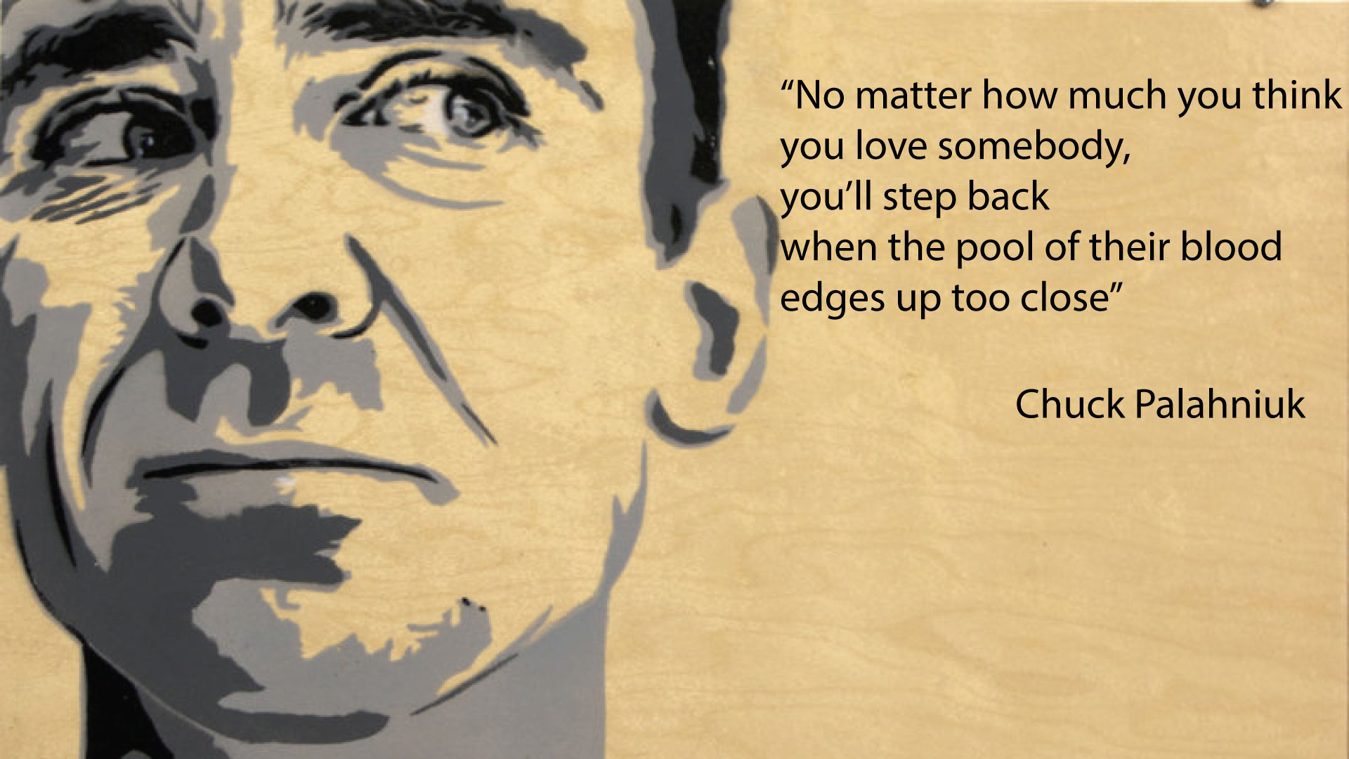 Chuck Palahniuk Invisible monsters i think Chuck palahniuk 1920x1080