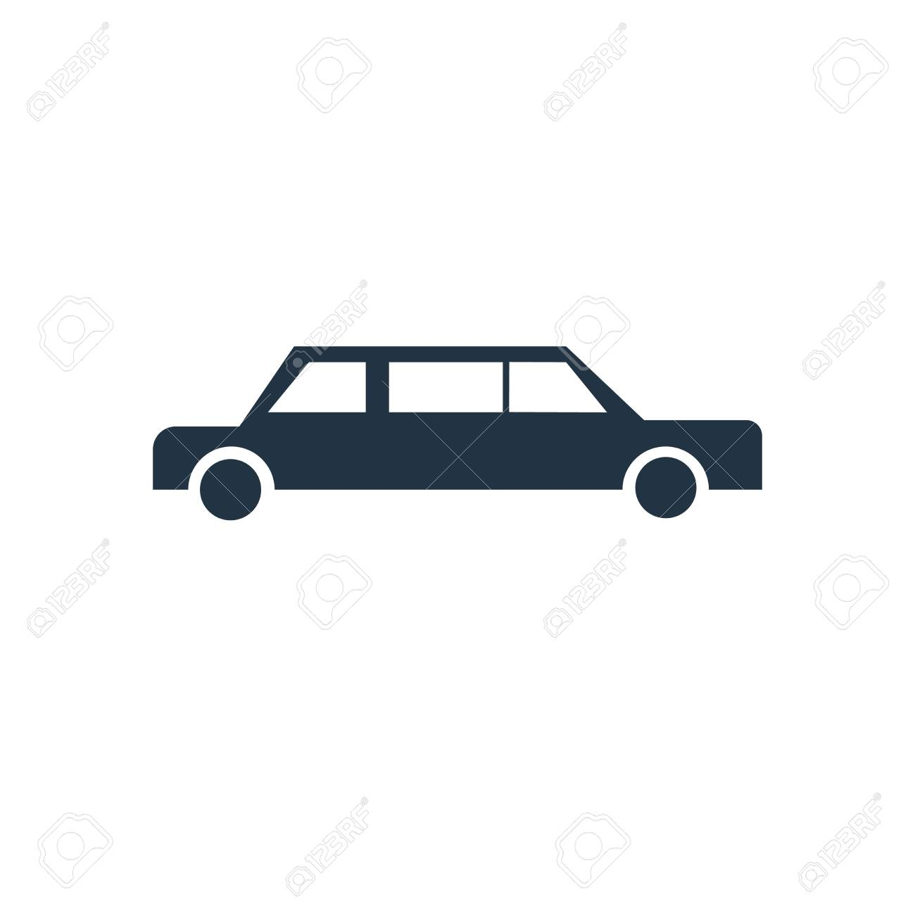 Limousine Icon Vector Isolated On White Background Limousine 1300x1300
