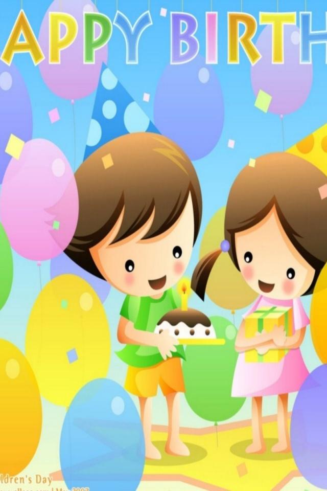 funny birthday wallpaper 640x960jpg 640x960
