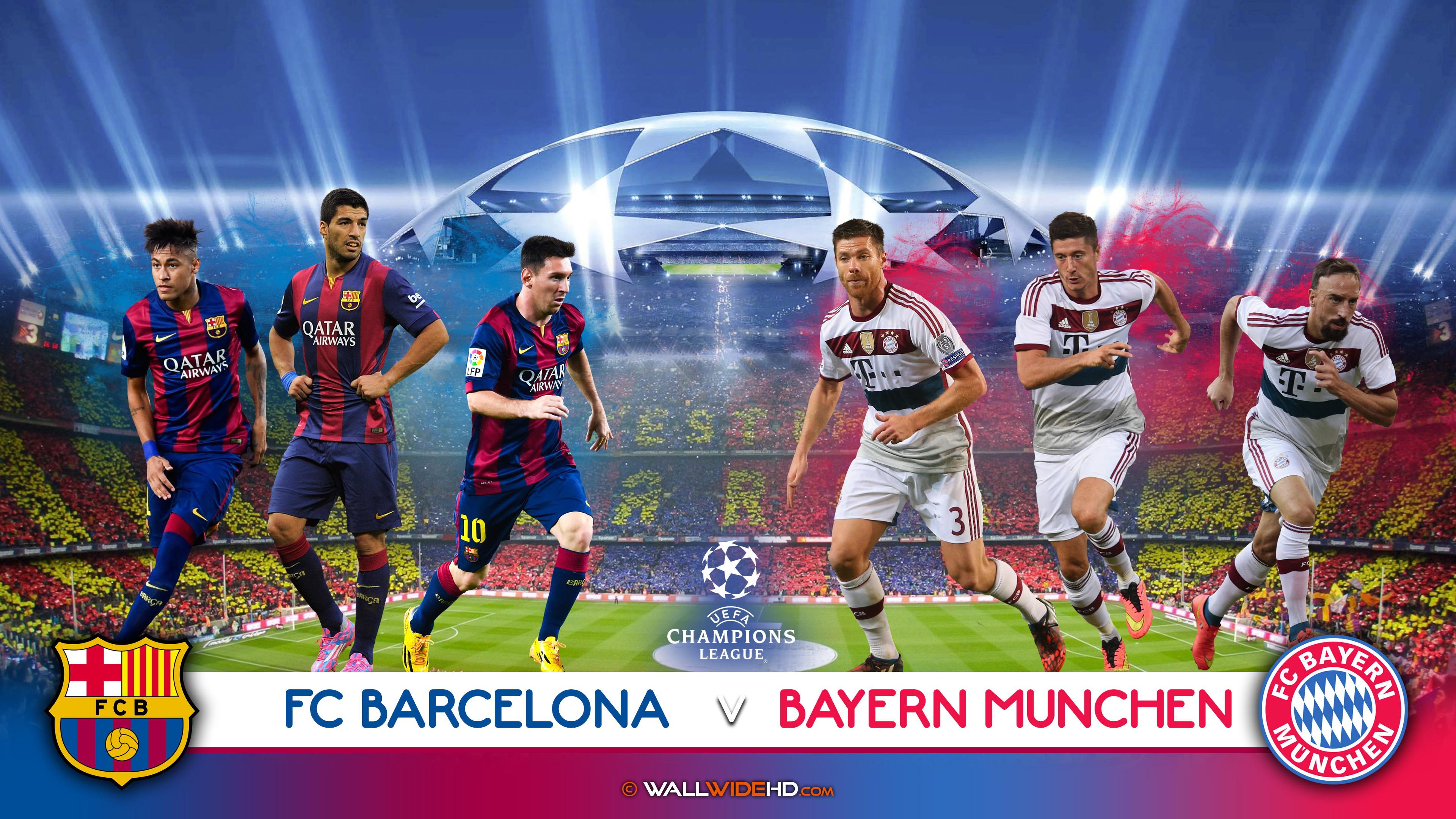 Free Download Fc Barcelona Vs Bayern Munchen 5th May 2015 Uefa Champions League 4k 3840x2160 For Your Desktop Mobile Tablet Explore 38 Fc Barcelona Champions League Wallpaper Fc Barcelona