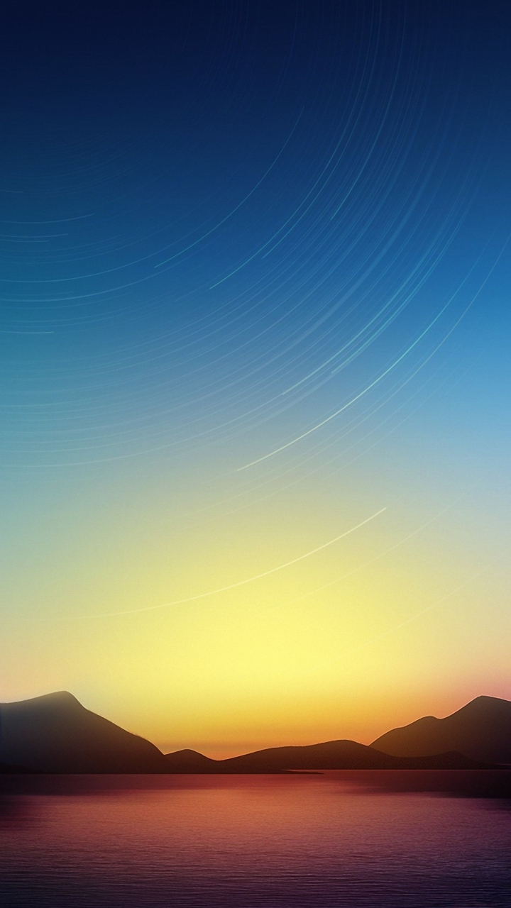 HD 720x1280 dusk sky sea sony xperia wallpapers mobile background 720x1280