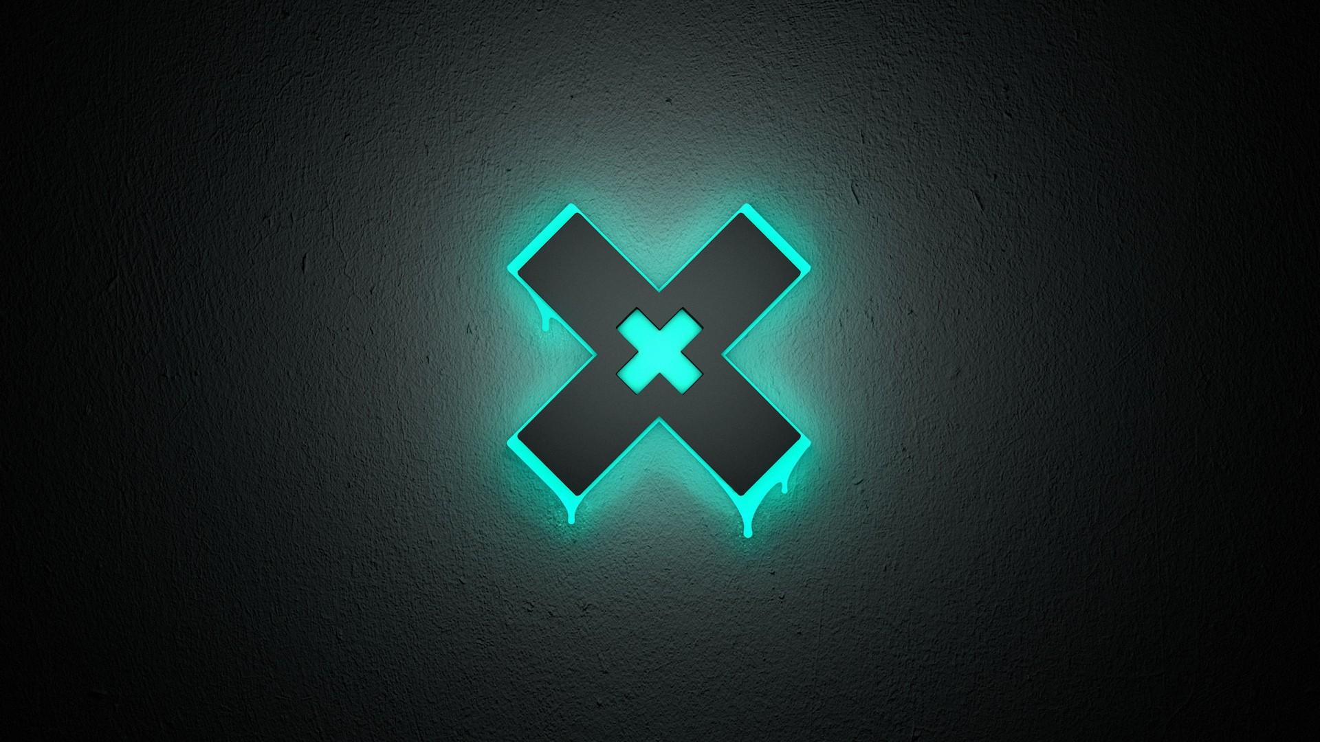 Neon X Black 3D Abstract HD Wallpaper 5816   HD Desktop Wallpapers 1920x1080
