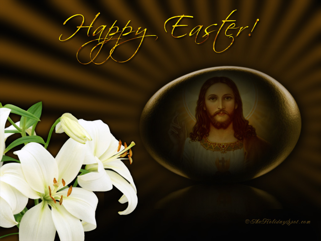 Religious Easter Wallpaper   Jesus 1024x768