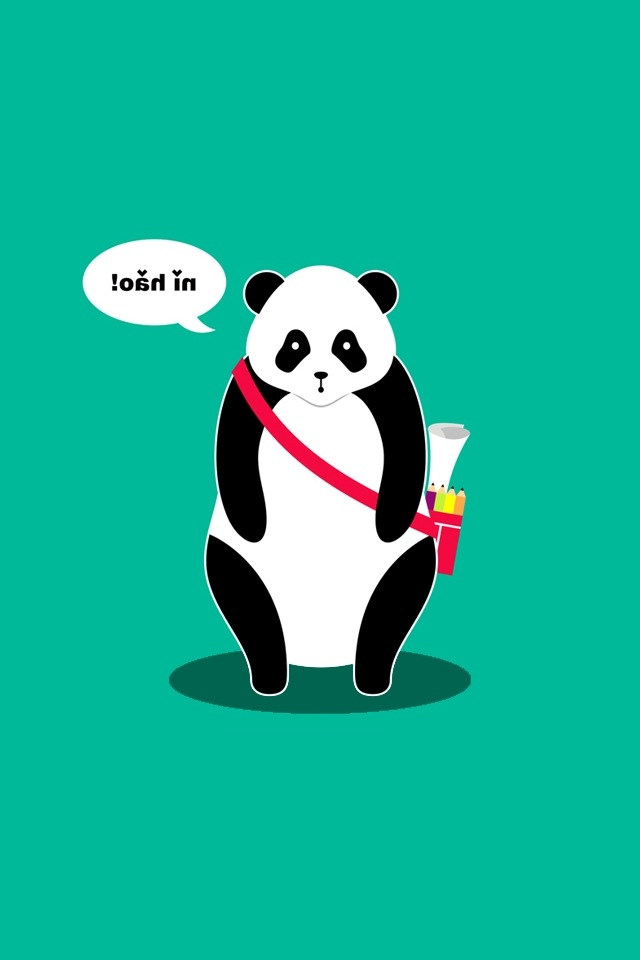 Hello Panda iPhone HD Wallpaper iPhone HD Wallpaper download iPhone 640x960