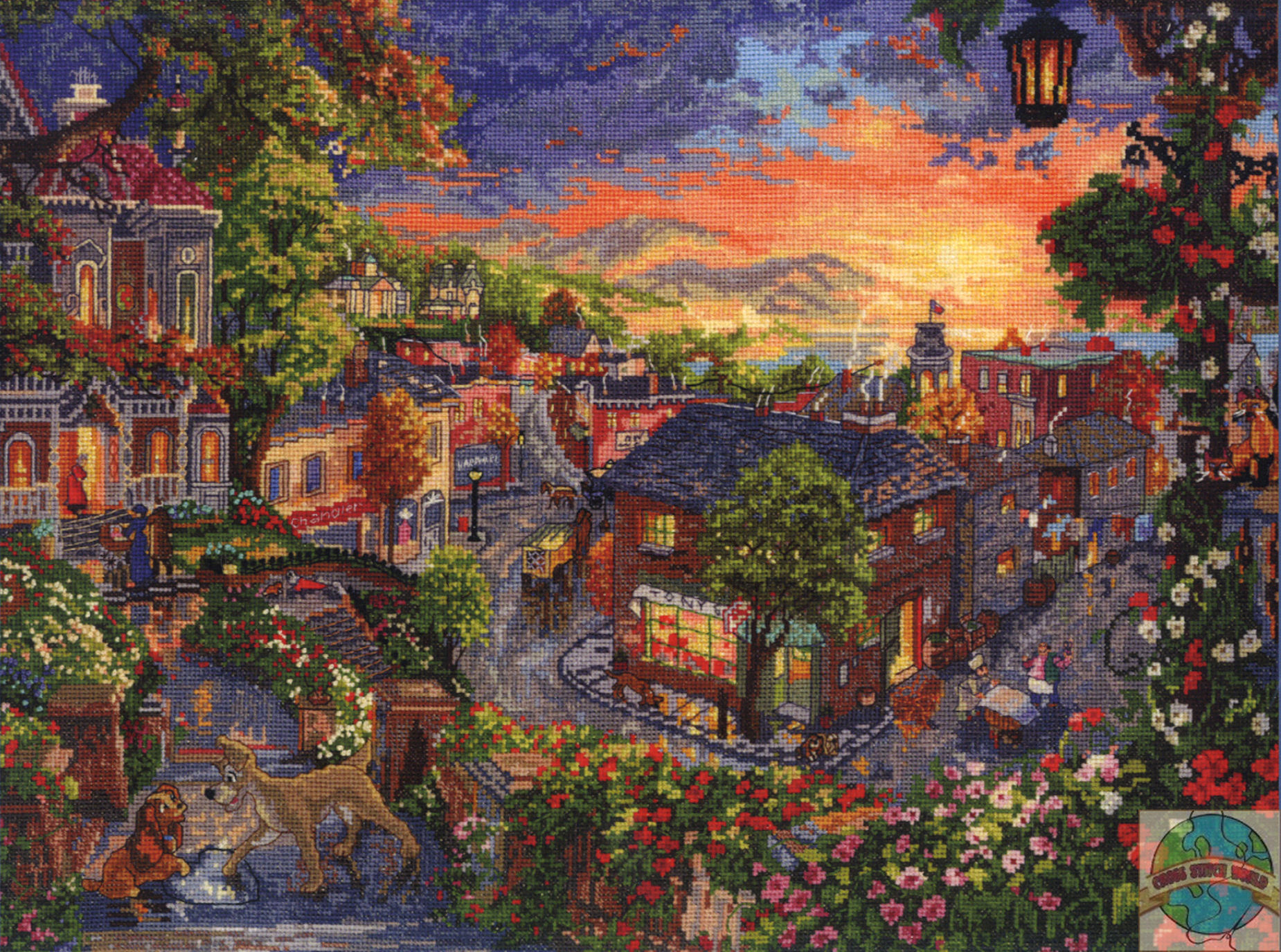 Thomas Kinkade Disney Wallpaper Tangled   Viewing Gallery 1850x1375