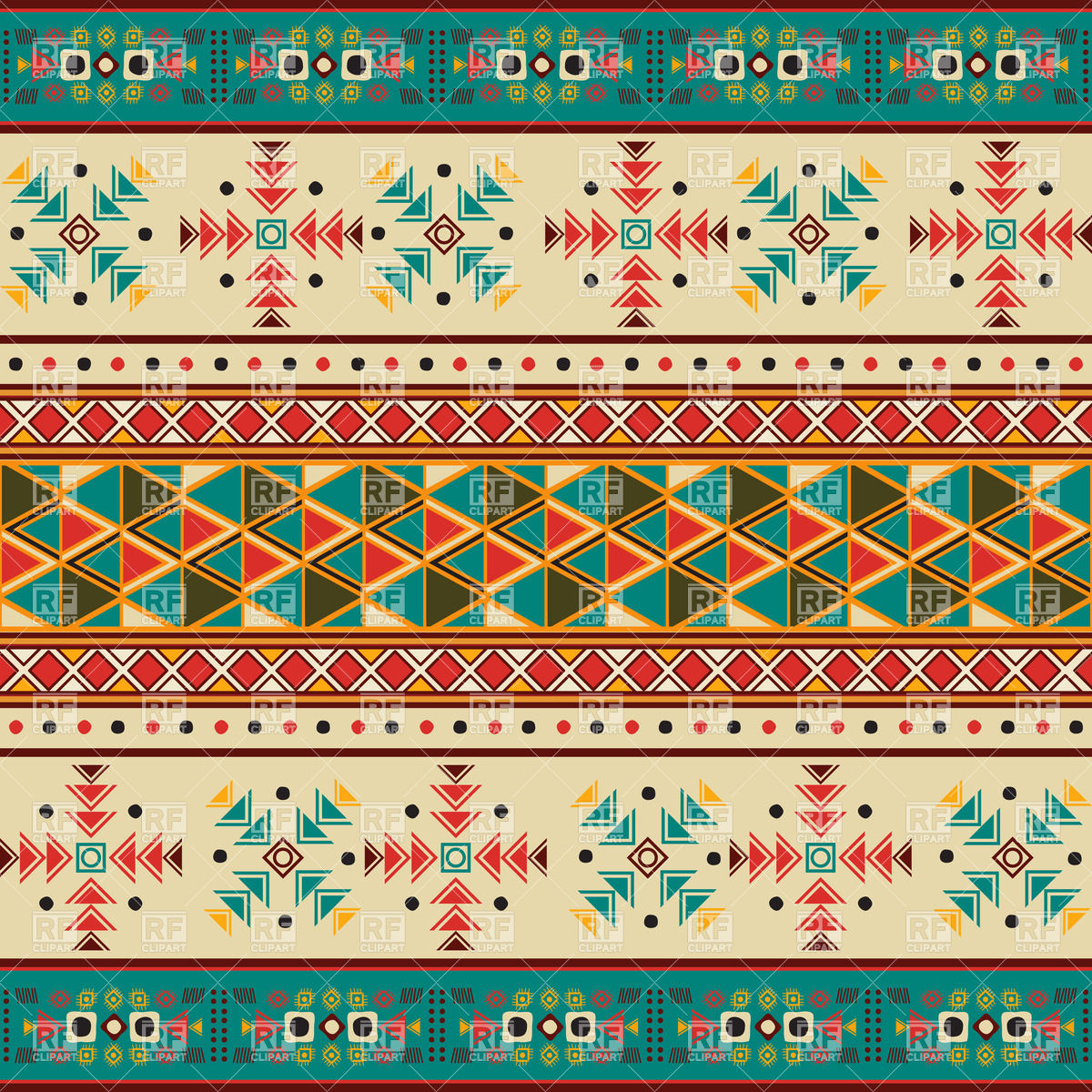 Seamless tile with navaho pattern 30484 download royalty free vector 1200x1200