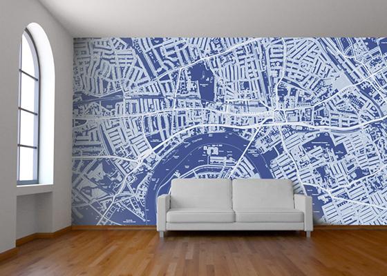 Custom Map Wallpaper   Design Crush 560x400