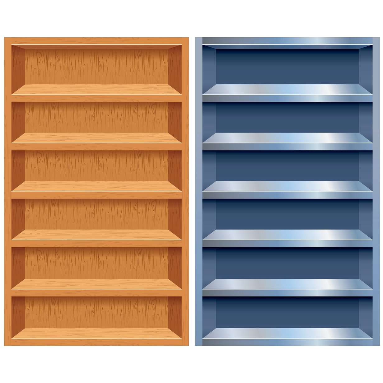 Empty Bookshelf Wallpaper - WallpaperSafari