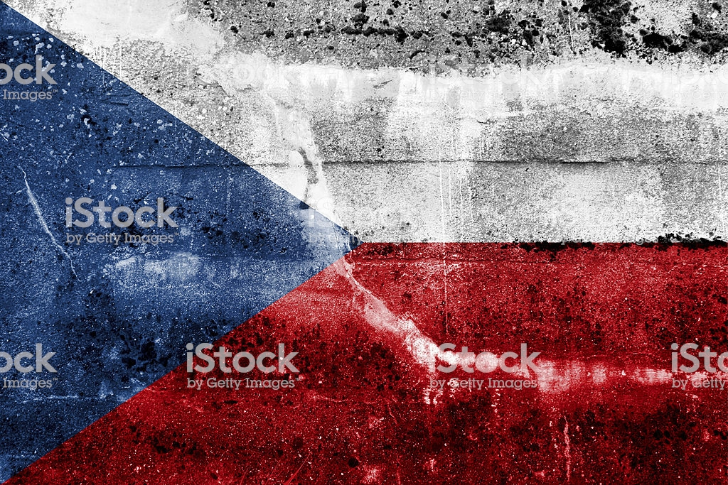 Czech Republic Flag On Old Grunge Wall Background Stock Photo 1024x683