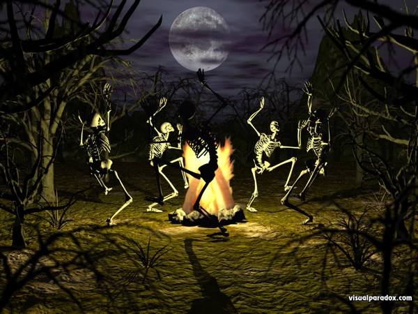 Halloween Wallpapers   Halloween Wallpapers Dancing Skeleton 600x450