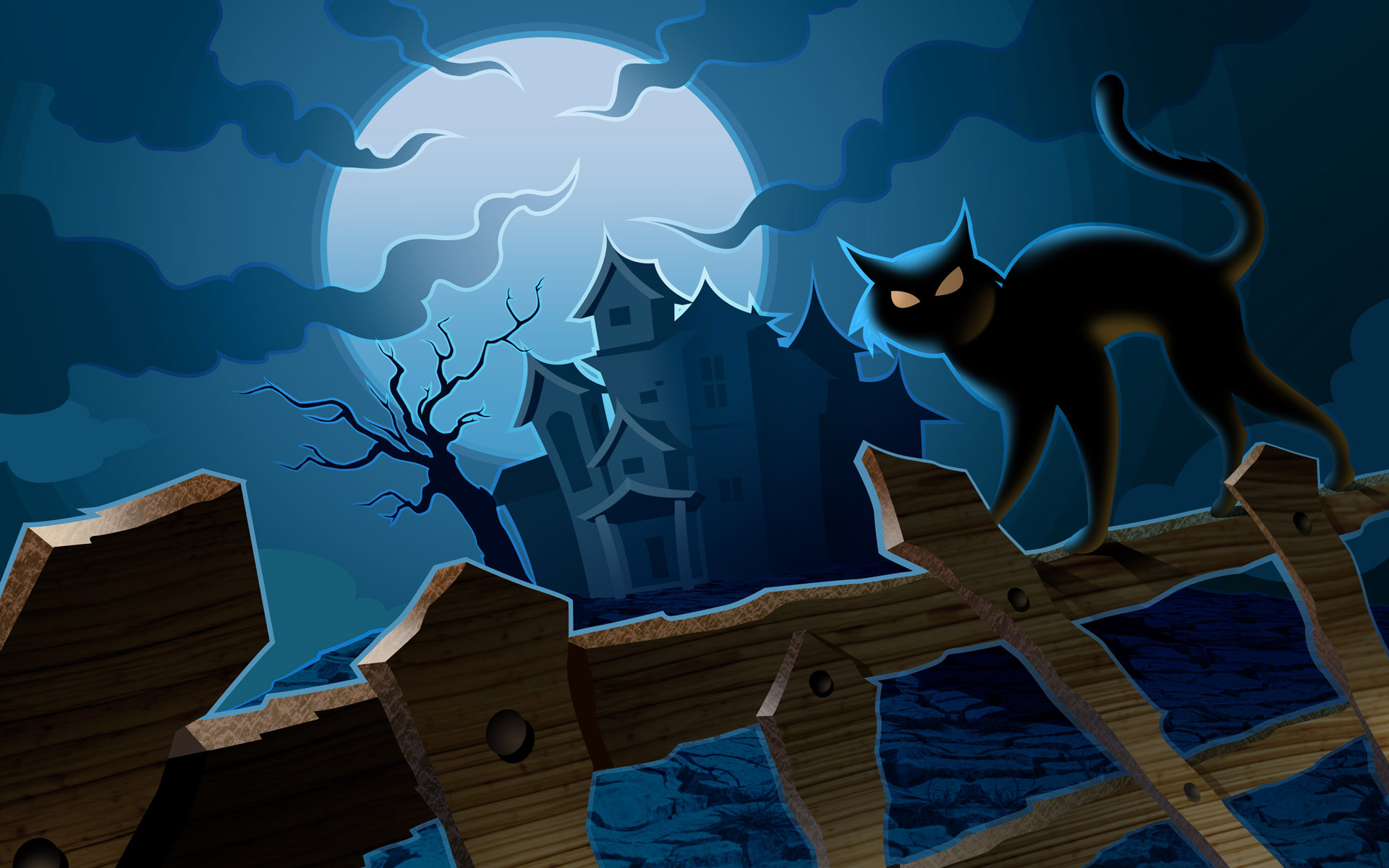Wallpapers Pumpkins Witches Spider Web Bats Ghosts Collection 1920x1200