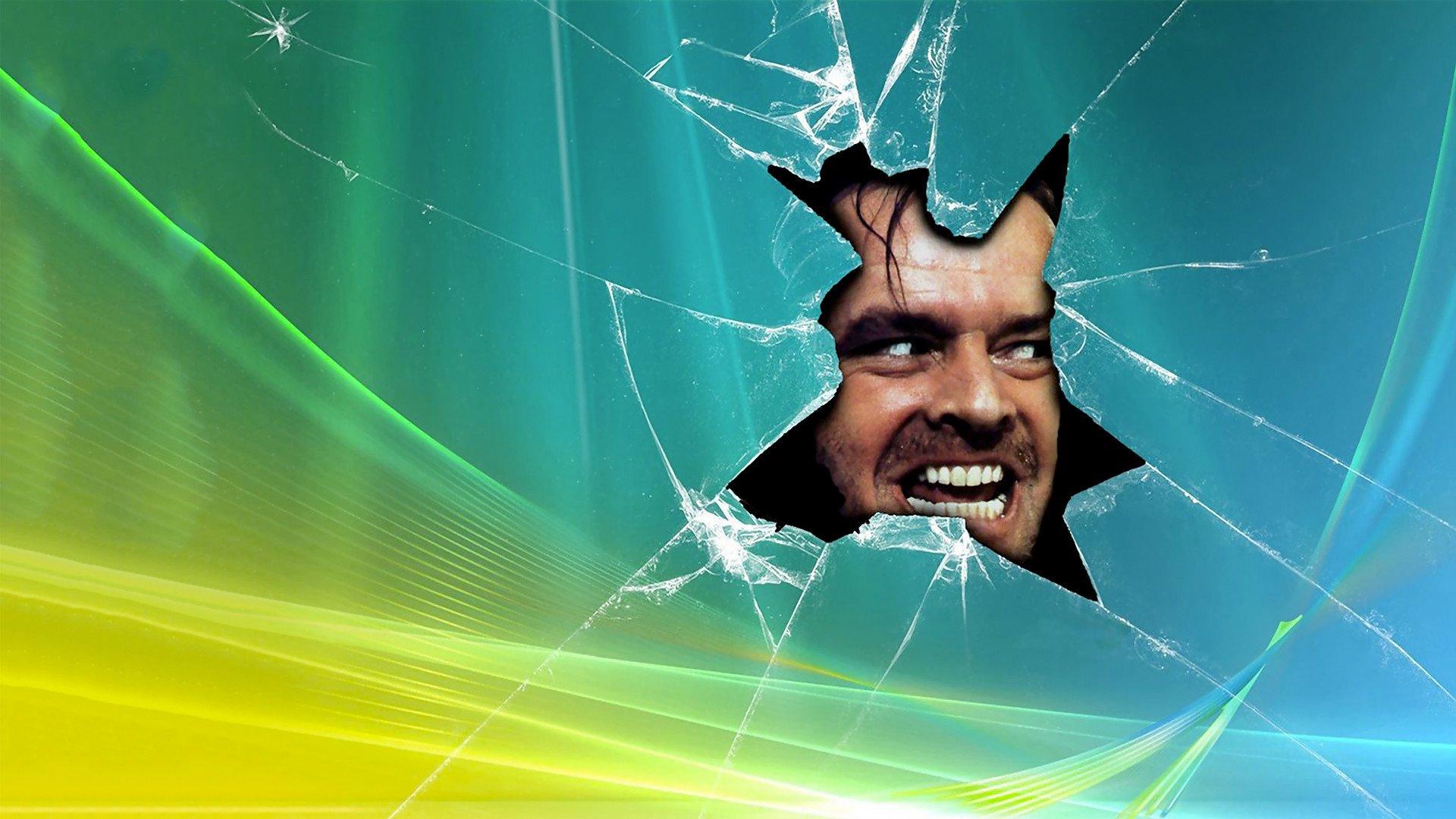 THE SHINING horror thriller dark movie film classic shatter glass 1920x1080