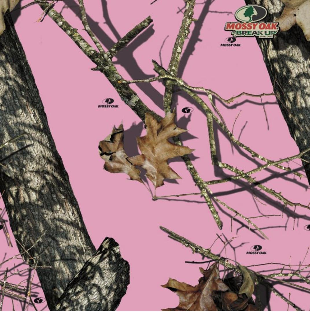 Pink mossy oak camo background