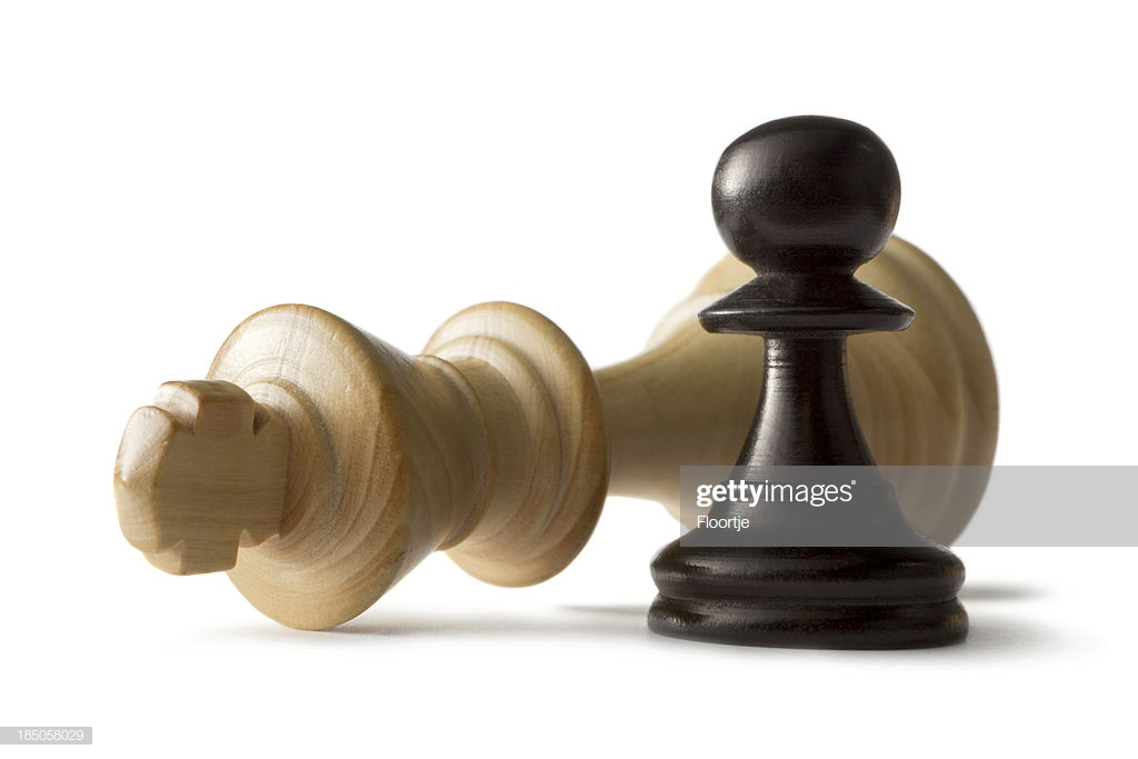 Chess King And Pawn Isolated On White Background Stock Photo 1024x683