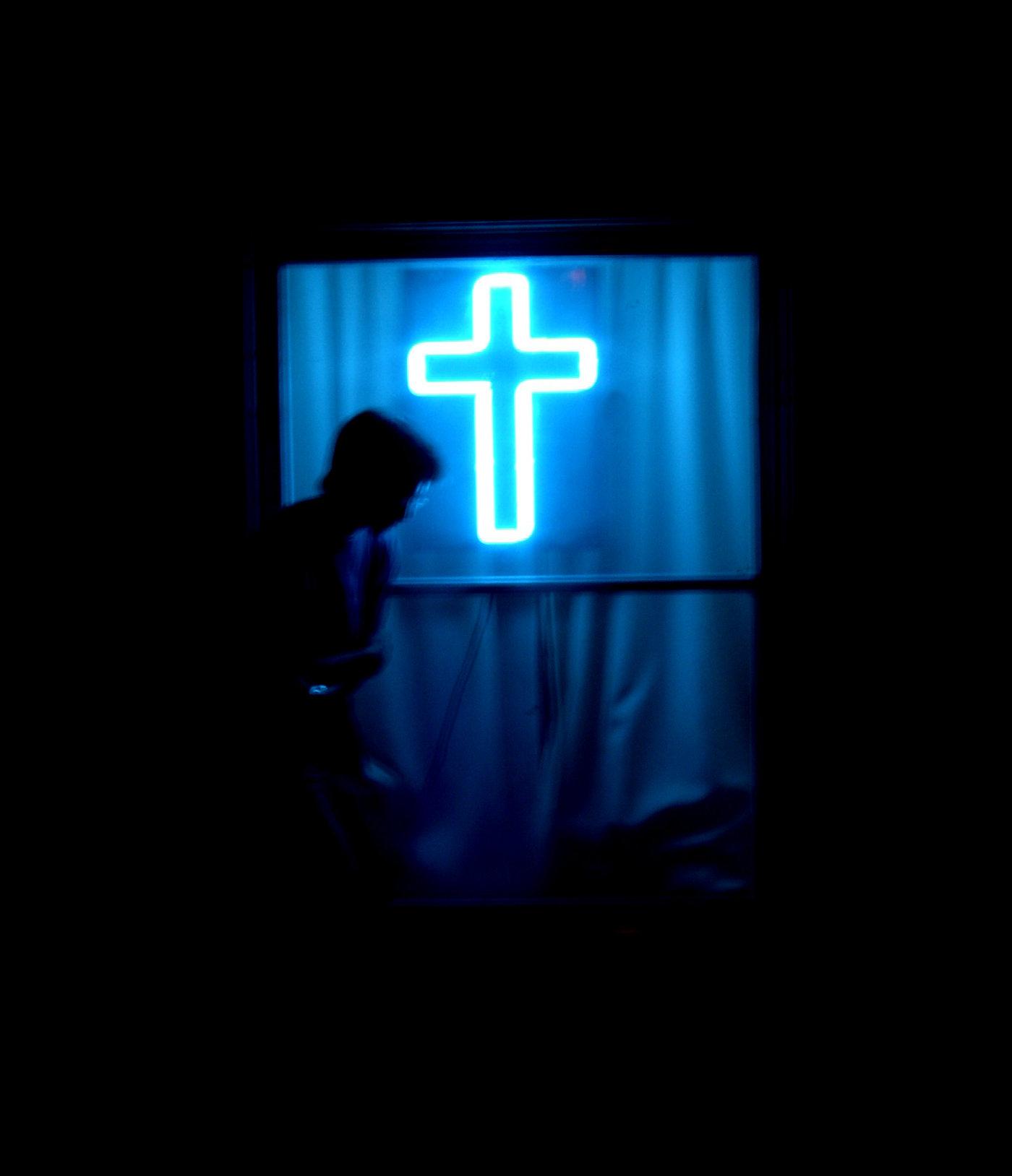 Neon Cross Wallpaper Wallpapersafari