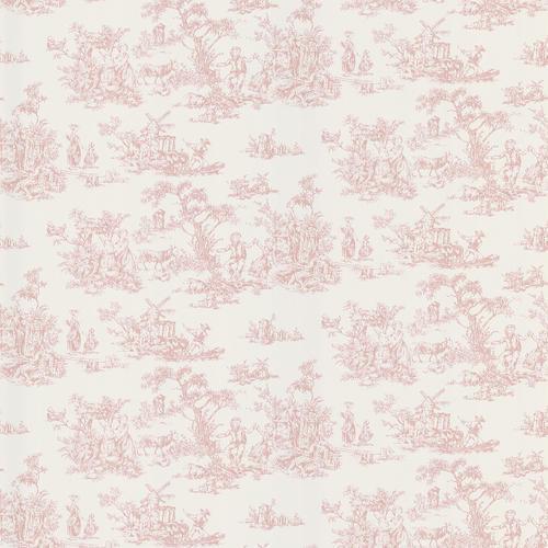 Pink Toile Wallpaper at Menards 500x500