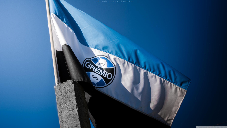 Flag Of Gremio Football Portoalegrense 4K HD Desktop Wallpaper 2880x1620