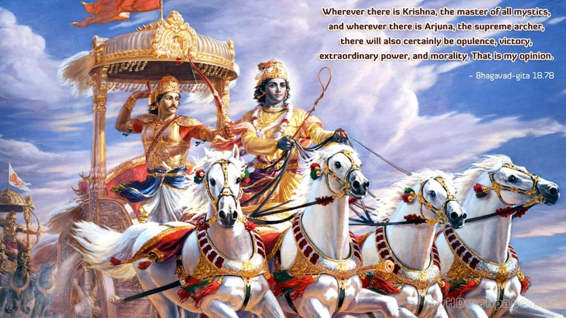 View Of Bhagavad Gita Wallpaper Hd Wallpapers 1920x1080