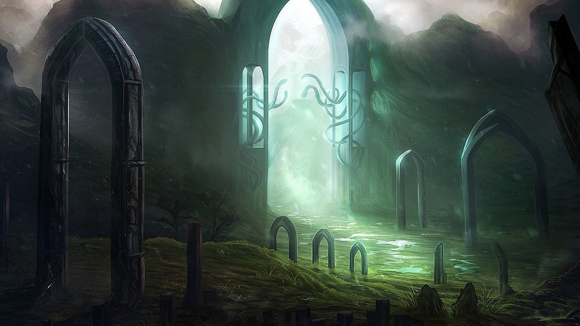 Light through the gates Wallpaper 50947 1920x1080