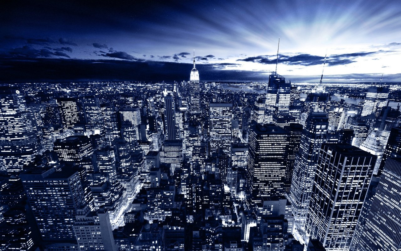 New York in Blue Wallpapers HD Wallpapers 1280x800