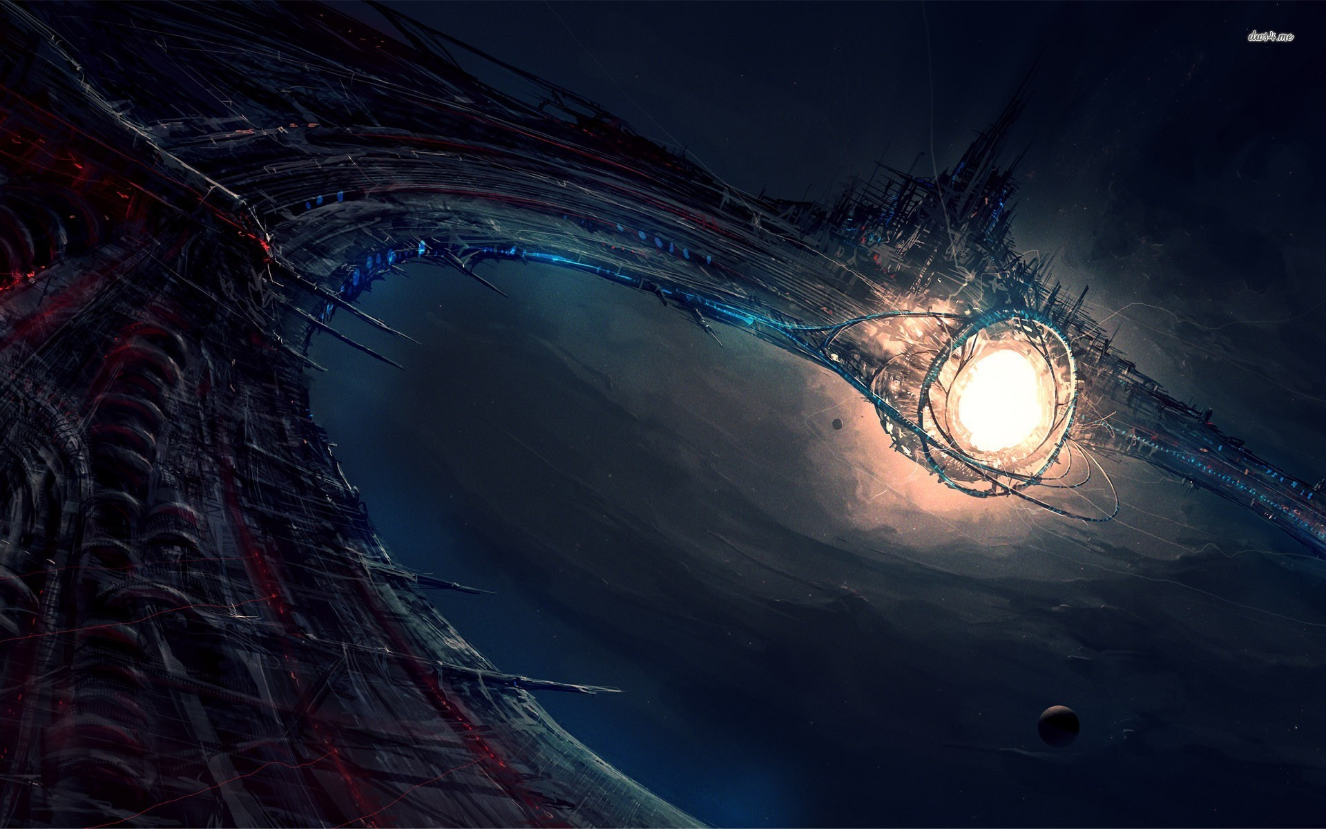 Space station wallpape...