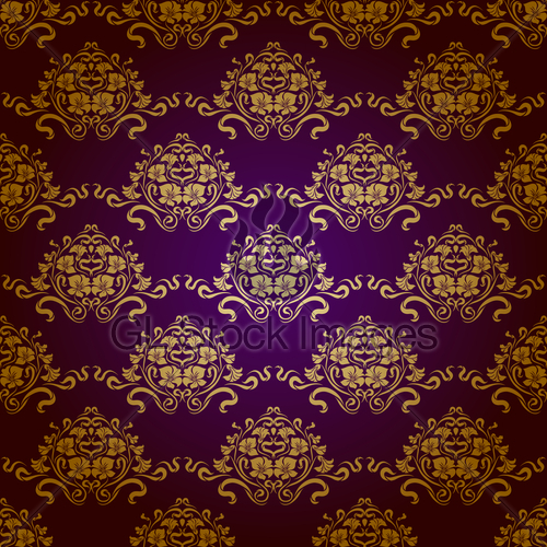Damask Seamless Floral Pattern Royal Wallpaper 500x500