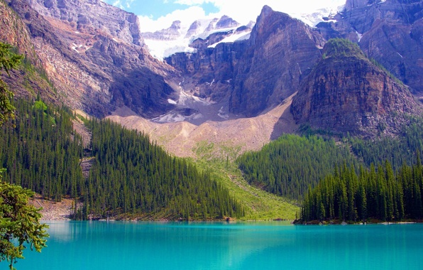 Banff national park alberta canada canada lake mountains sky 596x380