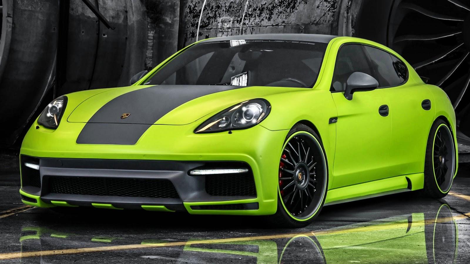 Porsche Panamera Green Full HD Desktop Wallpapers 1080p 1600x900