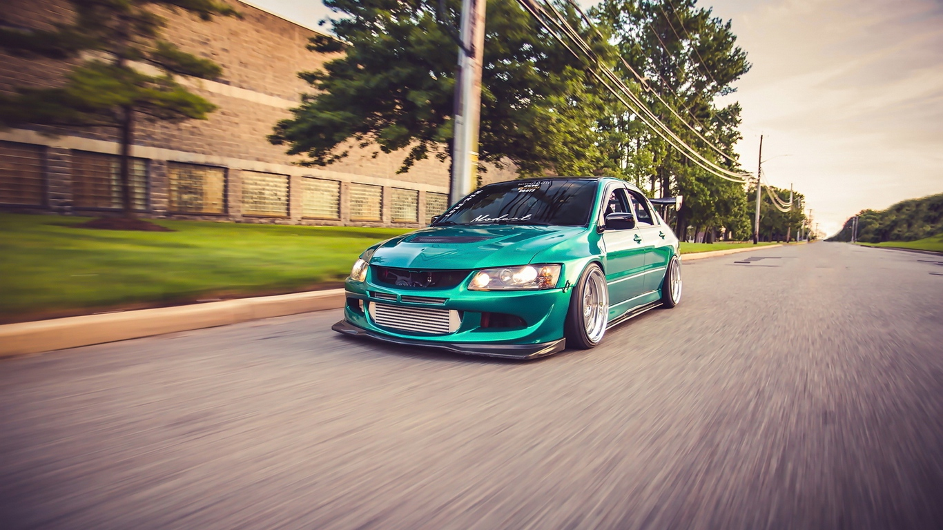 Download wallpaper 1366x768 mitsubishi evo 8 mitsubishi lancer 1366x768