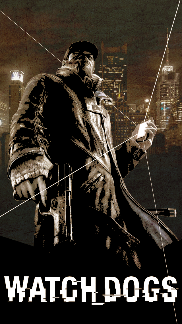 Watch Dogs iPhone Wallpaper by Solar11pro 640x1136