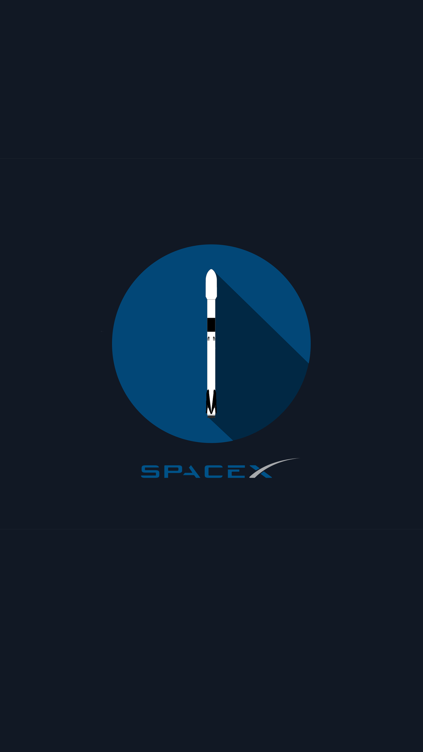 I made a flat SpaceX desktop wallpaper SpaceXLounge 1440x2560