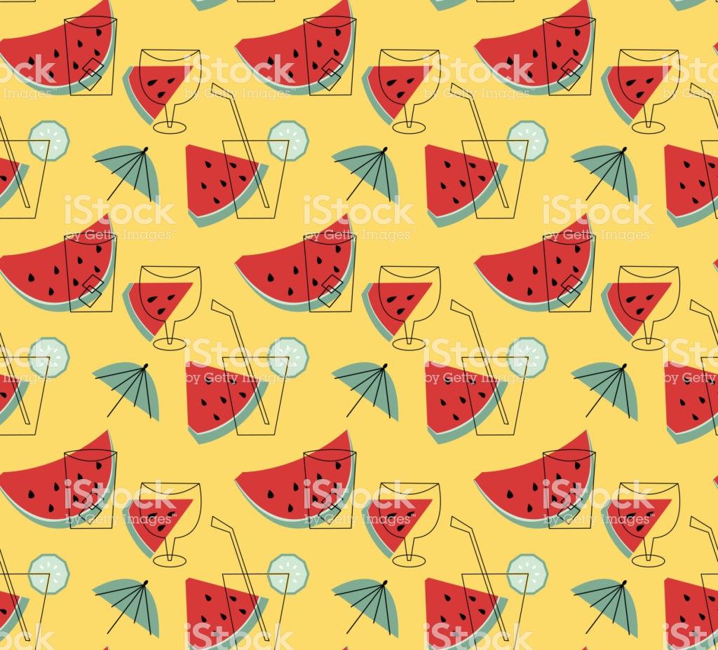 Summer Lemonade With Watermelon Vector Wallpaper Stock 1024x928