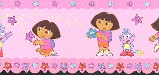 Dora Wallpaper 525x249