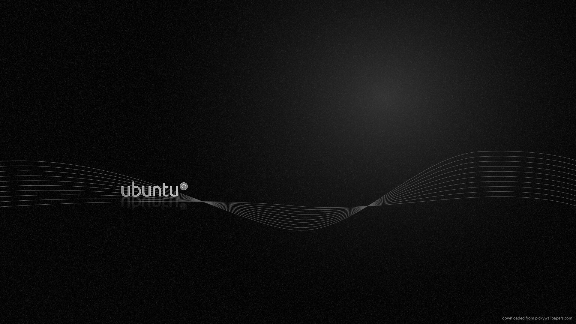 HD Ubuntu Black Wallpaper 1920x1080