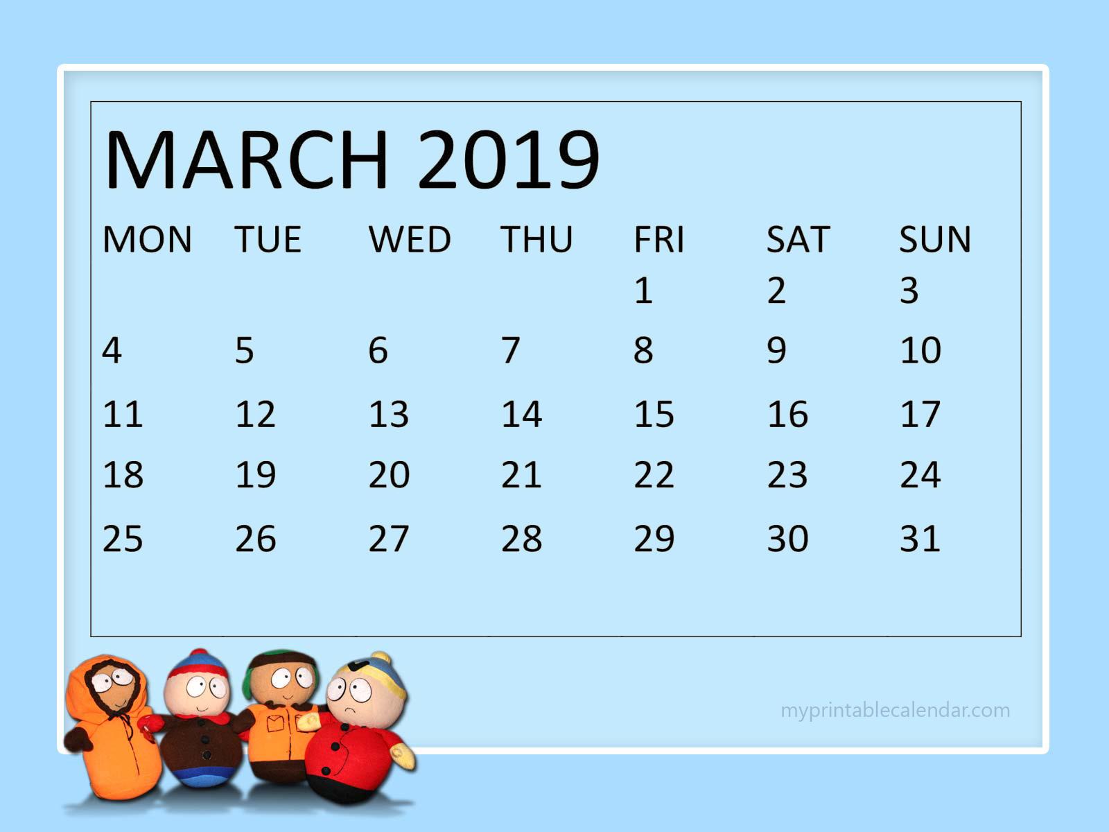 Floral March 2019 Wall Calendar   Printable Calendar Templates 1600x1200