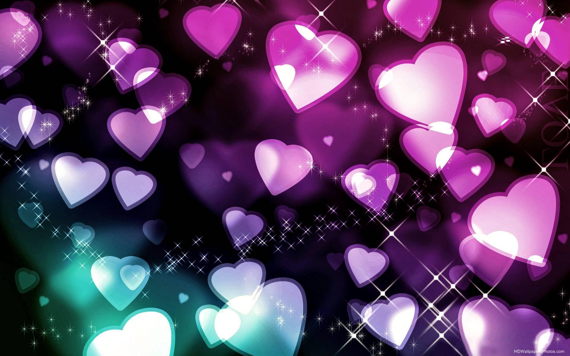 Colorful Hearts Wallpaper