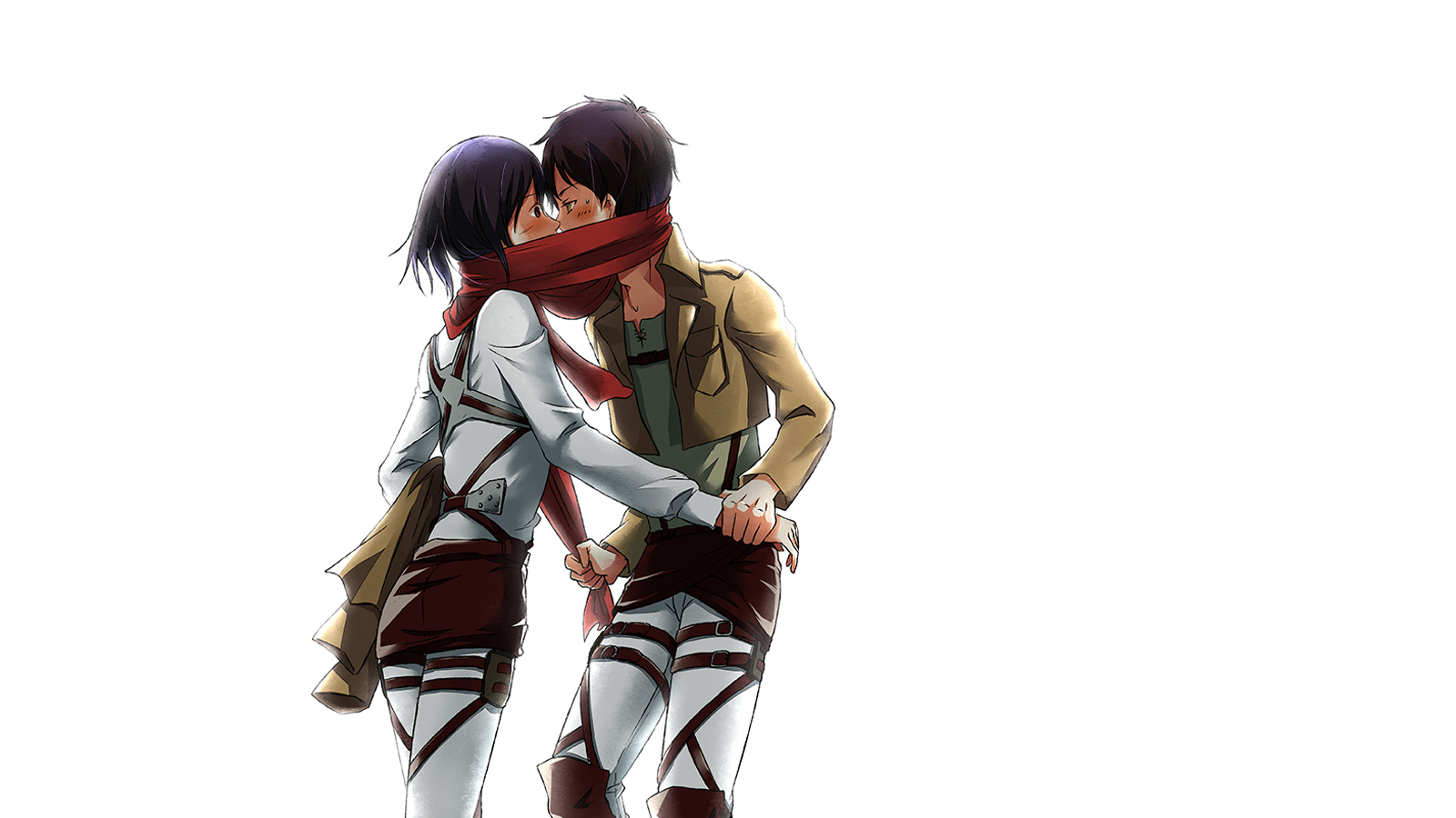 Free Download Attack On Titan Shingeki No Kyojin Mikasa Ackerman Eren Jaeger Kissing 1600x900 For Your Desktop Mobile Tablet Explore 49 Attack On Titan Mikasa Wallpaper Attack On Titan