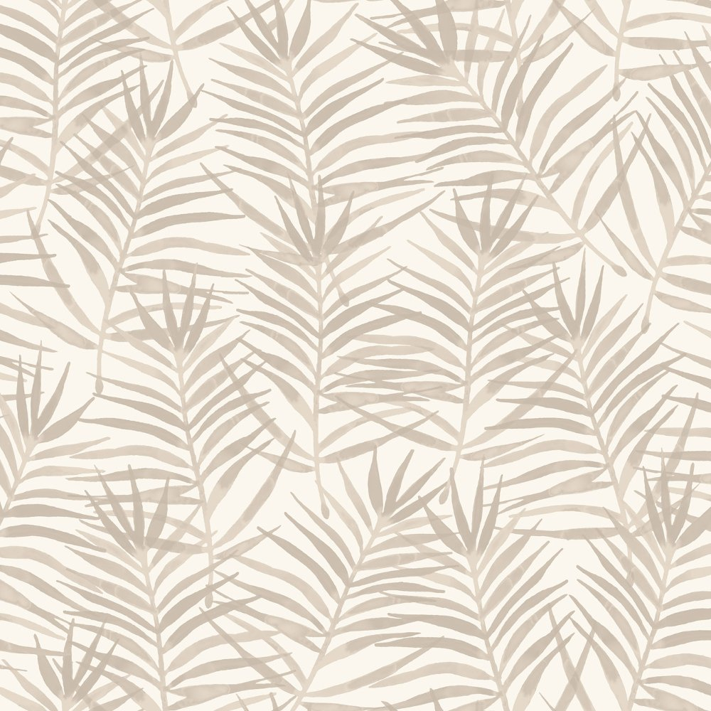 Palm Leaf Pattern Tropical Floral Motif Metallic Wallpaper 208917 1000x1000