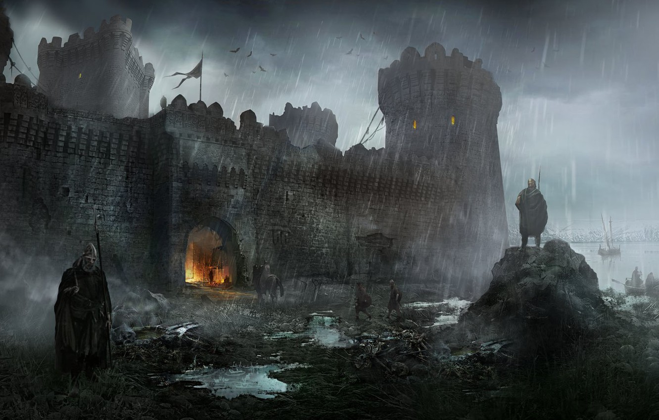 Wallpaper castle fortress Art Andrii Shafetov Ruined Fortress 1332x850