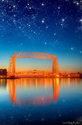 Starry Dawn over Duluth Lift Bridge Flickr   Photo Sharing 329x500