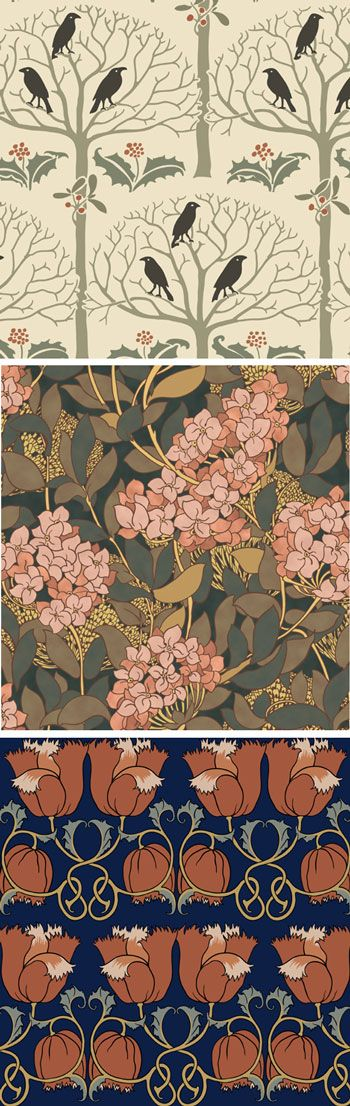 Arts and Crafts Wallpaper from Trustworth Studios 350x1106